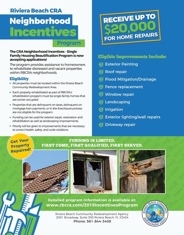 RBCRA neighborhood incentives program