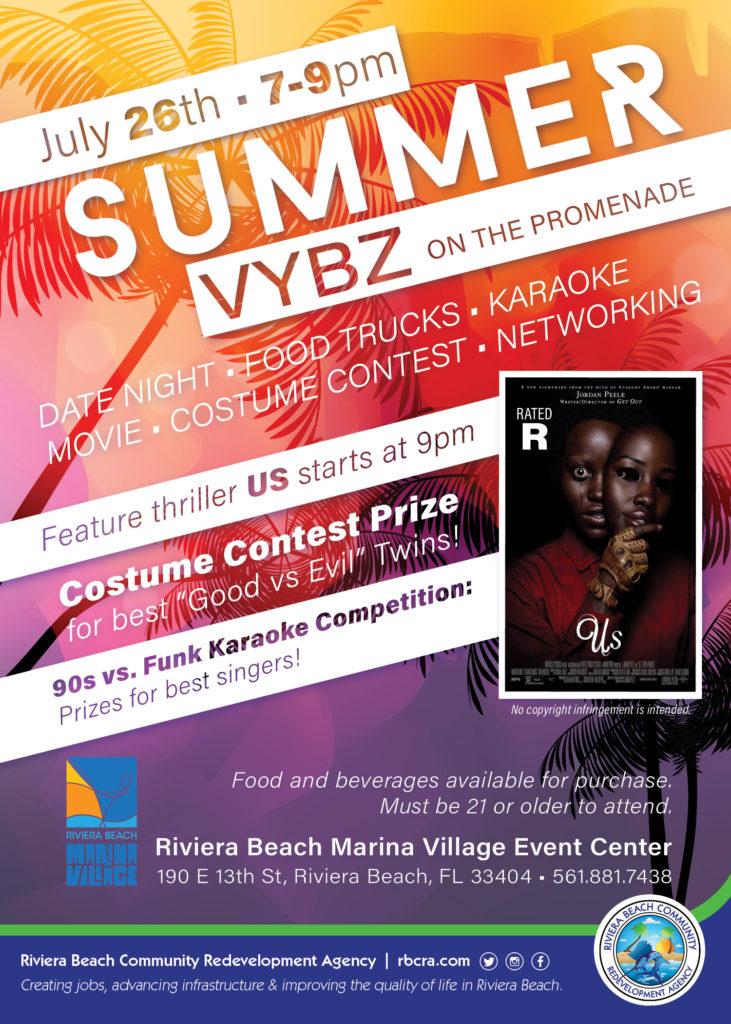 Summer Vybz on the Promenade - Riviera Beach Marina Village July event